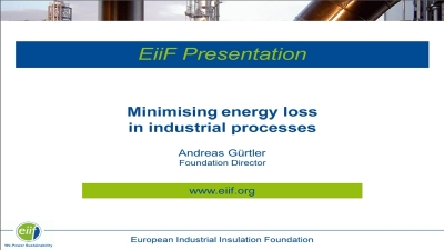 Minimising energy loss in industrial processes