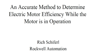 An Accurate Method to Determine Electric Motor Efficiency